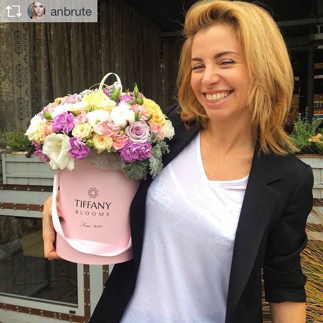 Прекрасной девушке цветы от @tiffanyblooms.ru